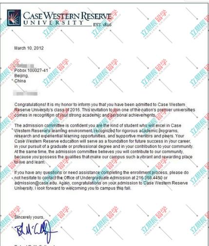 转专业申请收获多所院校offer,最终选择凯斯西储大学!